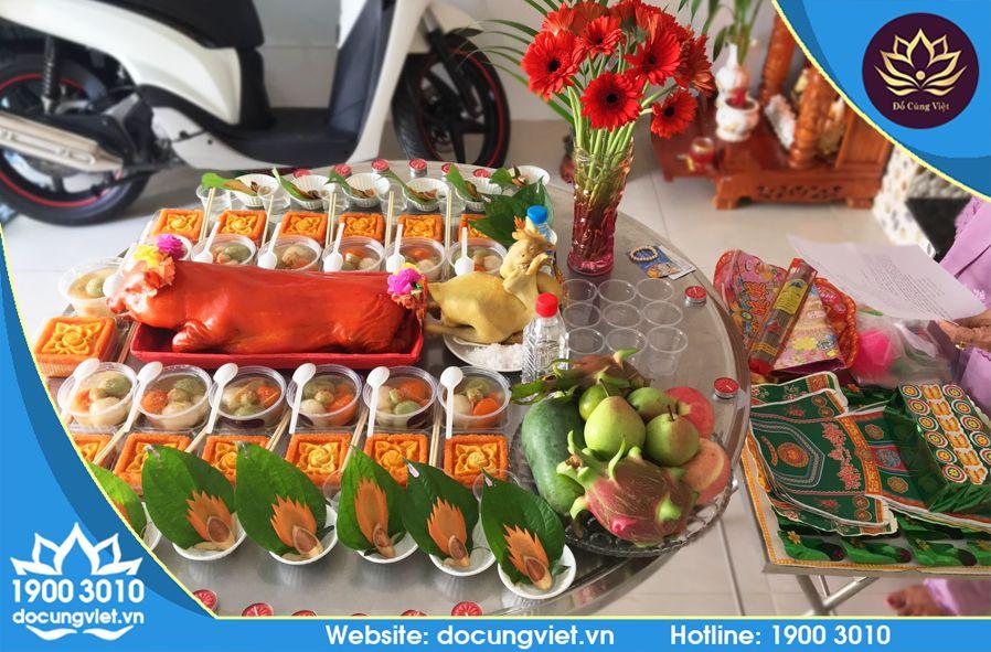 Lễ vật đồ cúng đầy đủ trong mâm cúng của Đồ Cúng Việt cung cấp