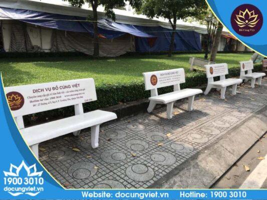Đồ Cúng Việt Trao tặng ghế đá công viên quận 9