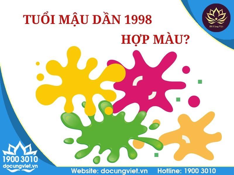 Tuổi Mậu Dần 1998 hợp màu gì?